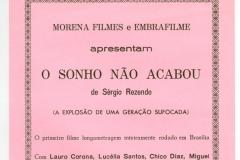 %22O sonho nao acabou%22 - Primeiro longa metragem inteiramente rodado em Brasilia