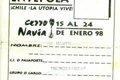 Entepola Encontro de Teatro Popular do Chile - 15 a 24 Jan:98